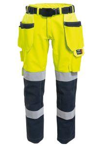 Set - Rail cutting trousers, nail pockets and belt